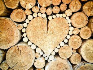 Brennholzhändler-Herz